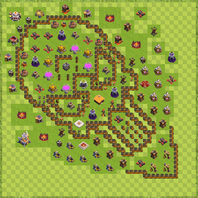 War Base Town Hall Level 11 By PatifeLayouts (troll caveira TH 11 Layout)
