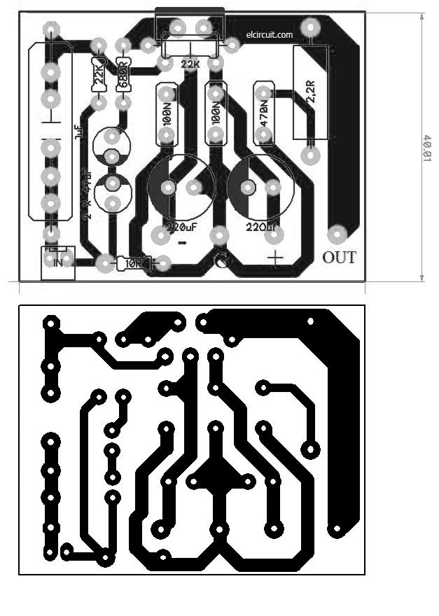 Assemble Mini Power Amp TDA2050 - Electronic Circuit