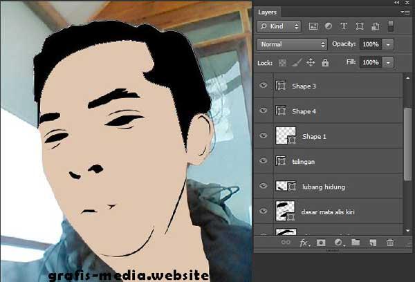 Cara Membuat Foto Menjadi Vector Kartun Di Photoshop