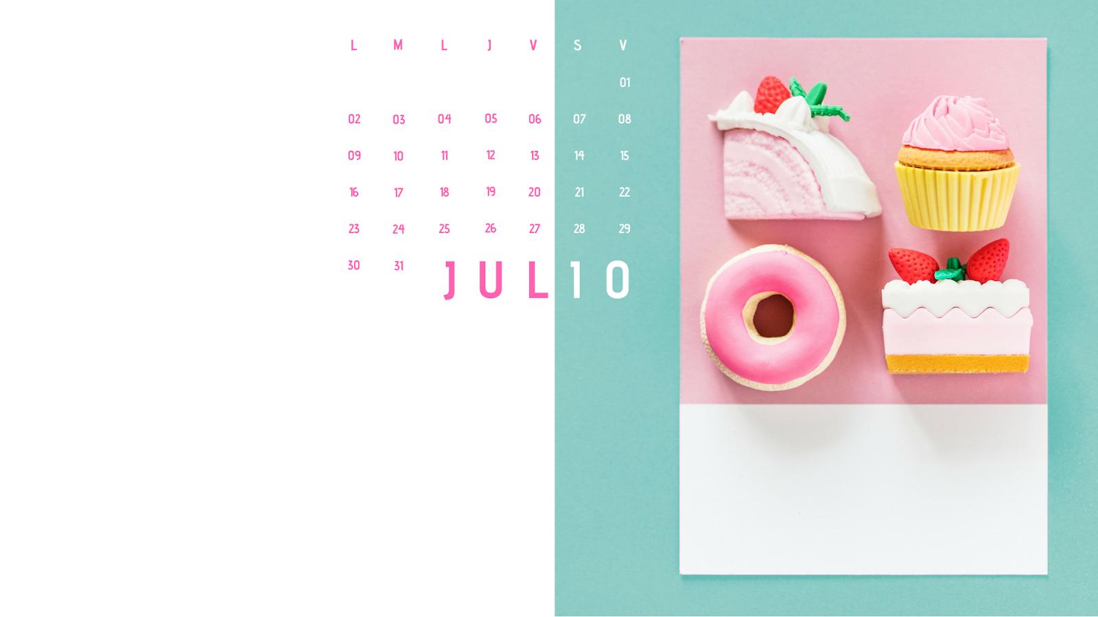 calendario bonito fondo escritorio pc wallpaper