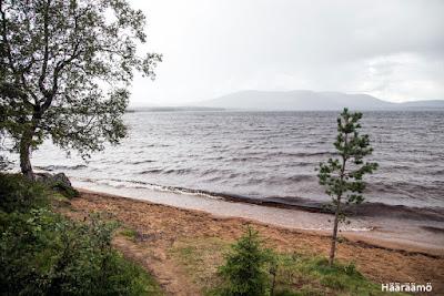 Pallasjärvi, taustalla siintää Pallas