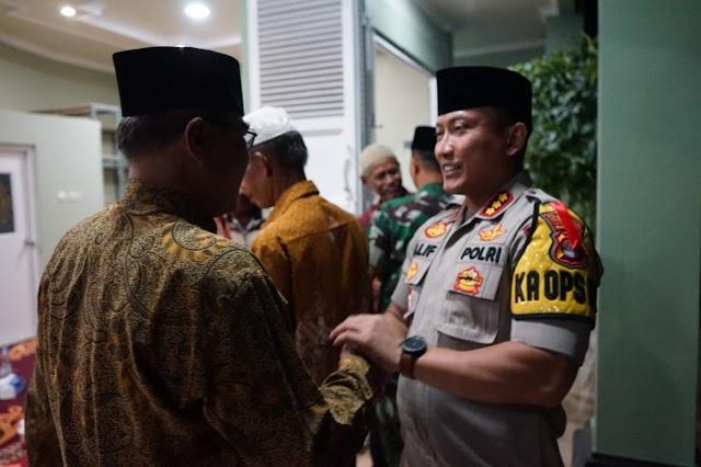 Antisipasi Aksi 22 Mei, Kapolres dan Dandim Buka Puasa Bersama Purnawirawan TNI.