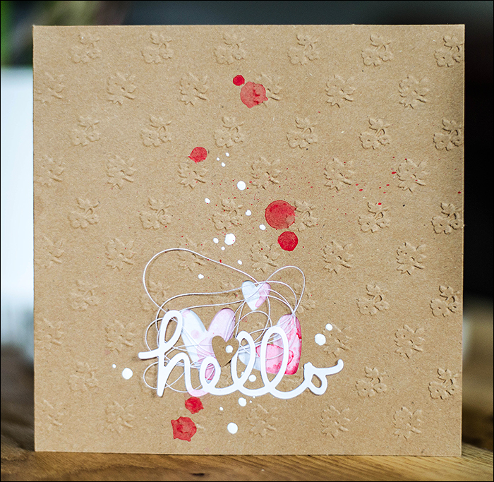 Stephanie Berger - Cardmaking - Karte Hello