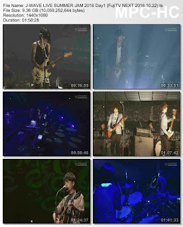 [TV-Variety] J-WAVE LIVE SUMMER JAM 2016 Day1 (FujiTV NEXT 2016.10.22)