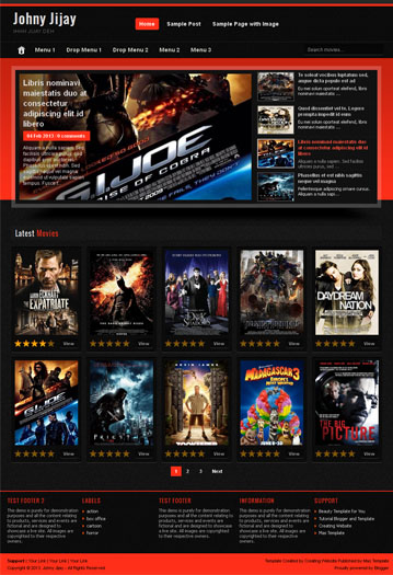 johny jijay simple template blogger gallery movie central of free