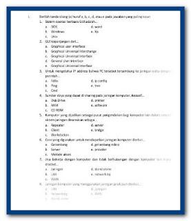 Soal KKPI SMK Kelas XII Semester Ganjil