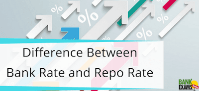 Difference between bank rate and repo rate