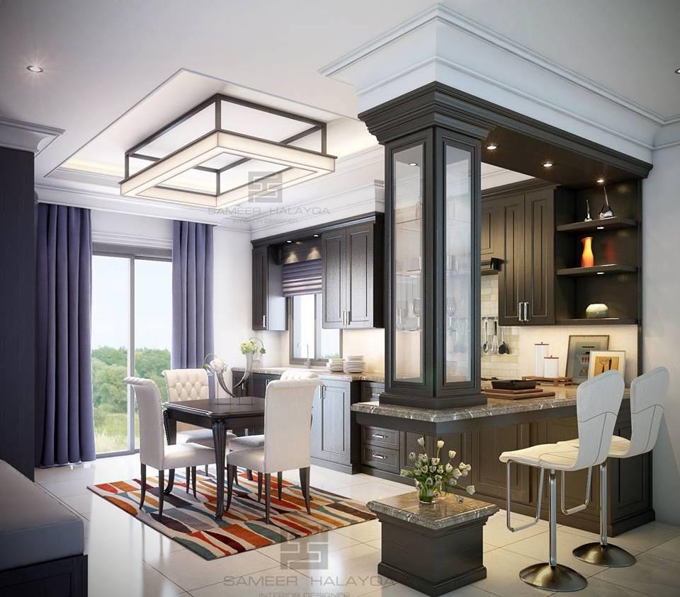 Divider design for kitchen and living room for Living room and kitchen divider
