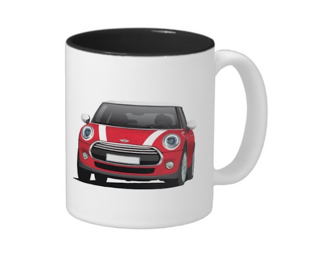 MINI Cooper S illustration mug