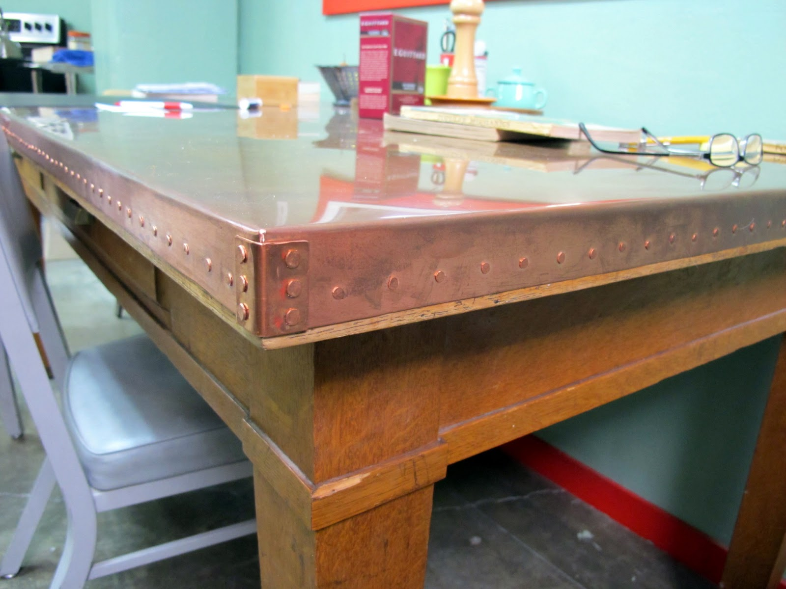 Nothing Too Strong Ever Broke Copper Table Face Lift