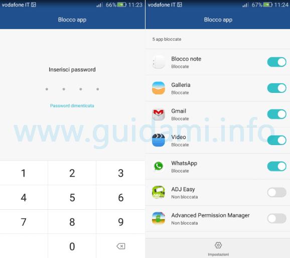Huawei Blocco app