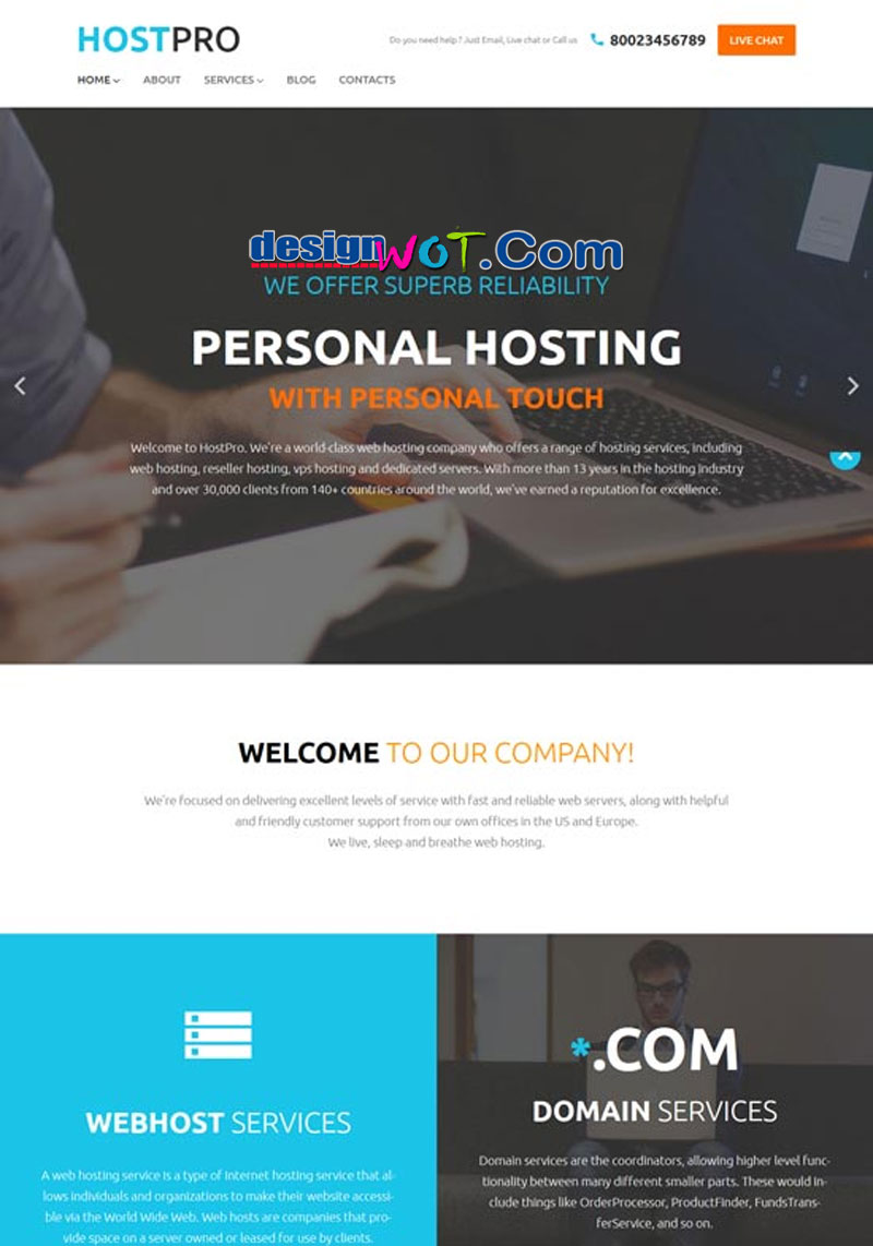 HostPRO Hosting Business WordPress Theme