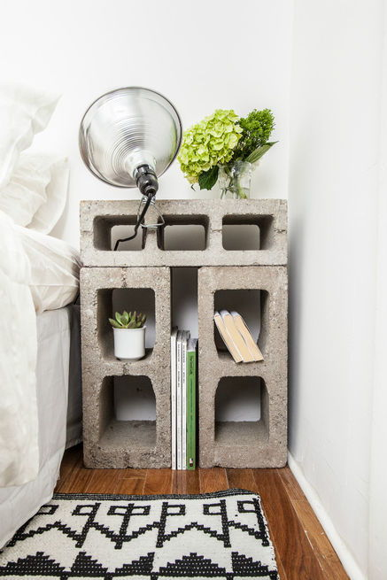 20 decoration ideas to make with concrete blocks 15