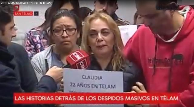 Claudia de TELAM, la que votó a Macri y nunca hizo un paro