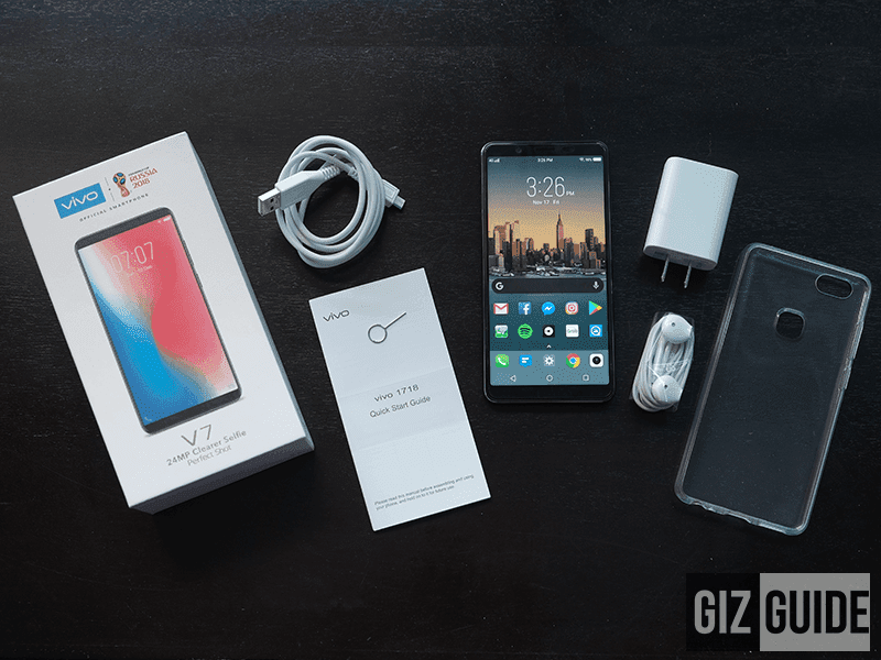 Here is what you get out of the box with Vivo V7