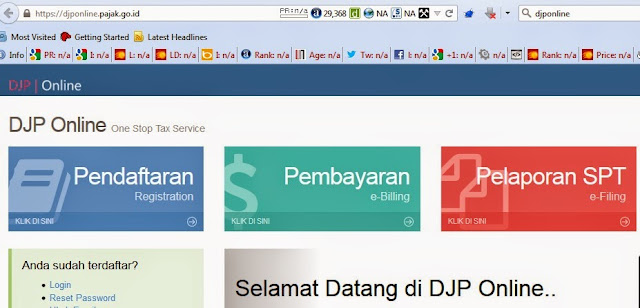 Lupa Password DJP Online