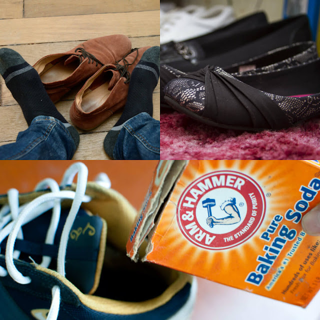 كيفية التخلص من رائحة الأحذية الكريهة