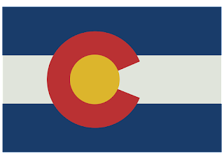 Colorado state flag Logo Vector