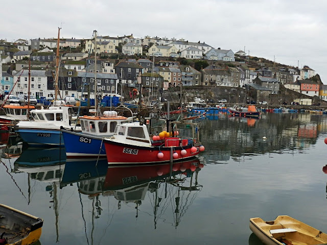Mevagissey harbour and fishing boats Cornwall