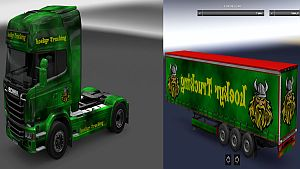 Loekyr Trucking pack for Scania Streamline