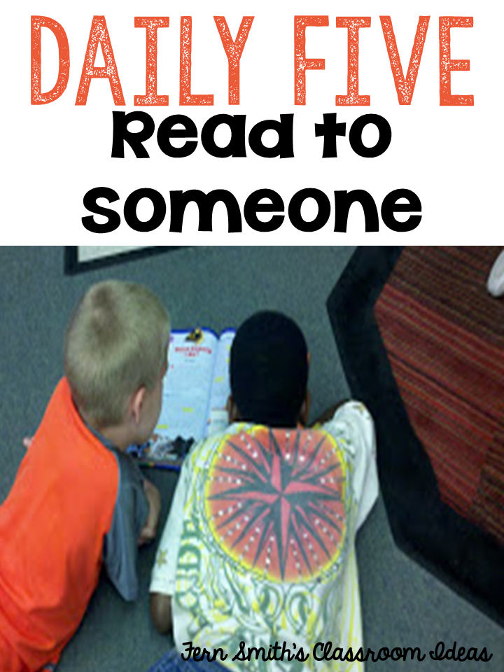 Fern Smith's Classroom Ideas ~ Bright Ideas Blog Hop: Partner Reading or Daily Five Read to Someone
