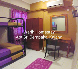 Warih-Homestay-Sri-Cempaka-Second-Bedroom-With-Aircond