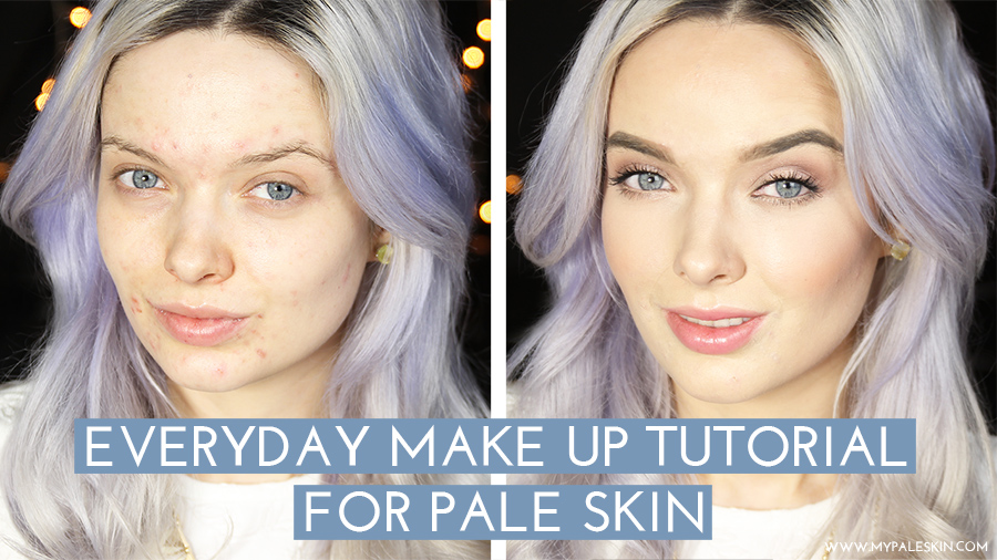 Everday Make Up Tutorial For Pale Skin!