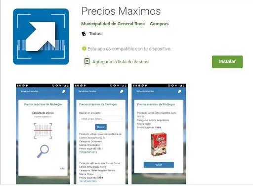 Crearon una app para conocer precios máximos en Río Negro