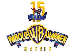 Logo 15 aniversario Parque Warner