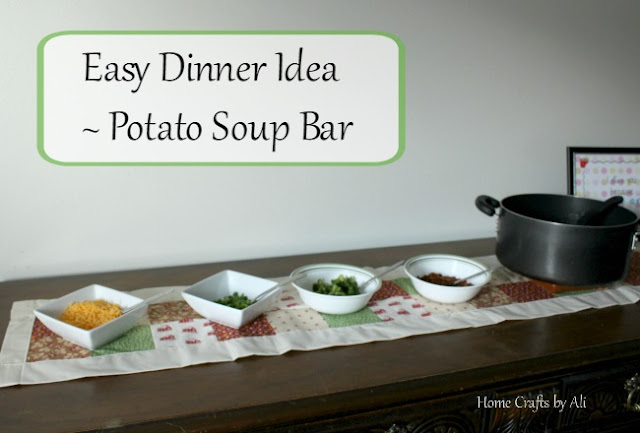 easy dinner potato soup bar