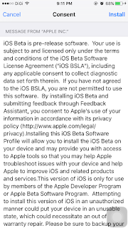iOS ipsw Beta Profile