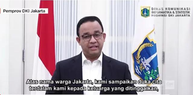 Pidato Belasungkawa Dari Anies, Netizen: Gubernur Rasa Presiden