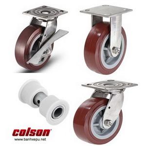 Bánh xe PU càng bánh xe đẩy inox chịu tải trọng (270~405kg)