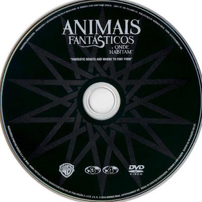 Label DVD Animais Fantásticos e Onde Habitam (Oficial)