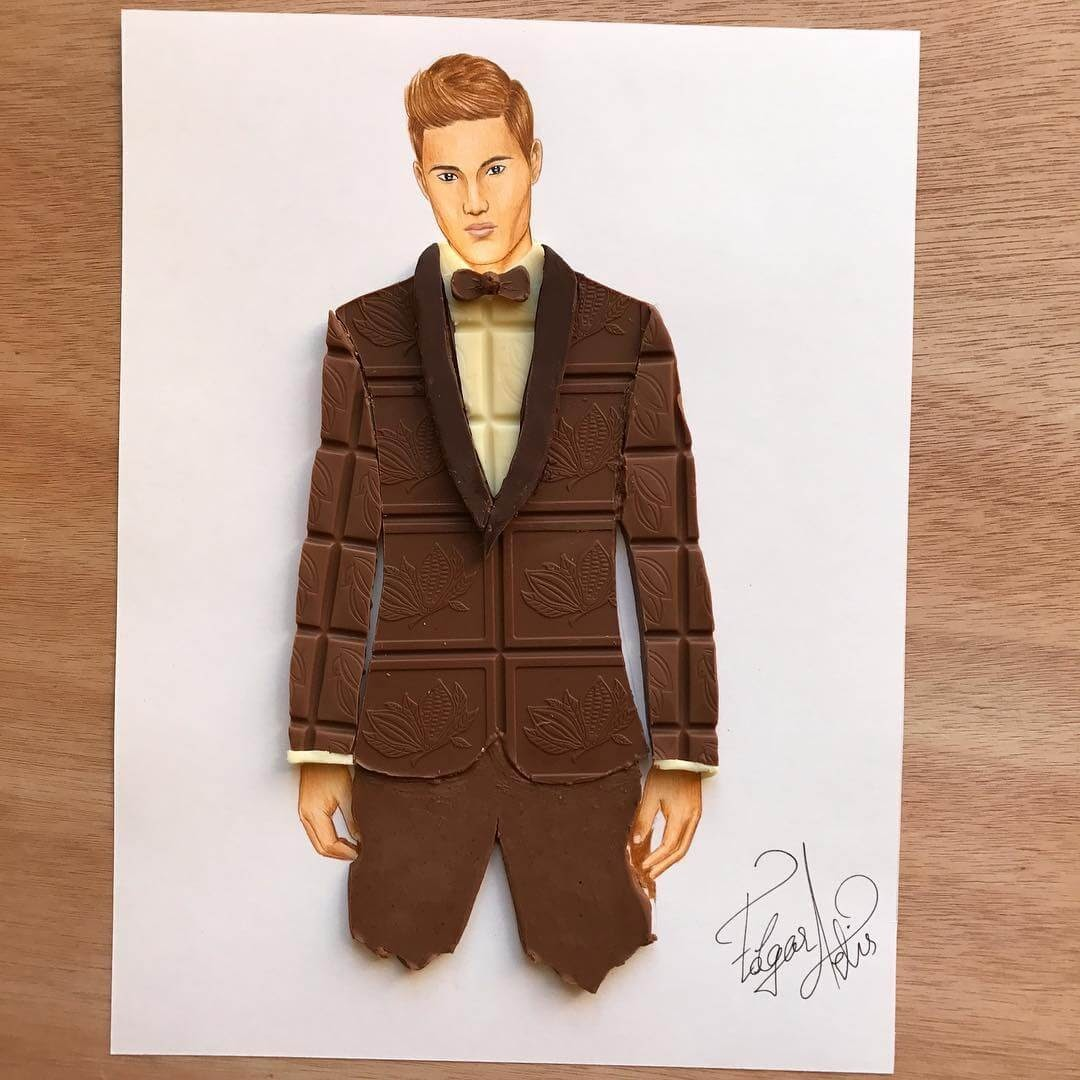 10-Chocolate-Gentleman-Edgar-Artis-Drawing-with-Everything-Food-Art-and-More-www-designstack-co