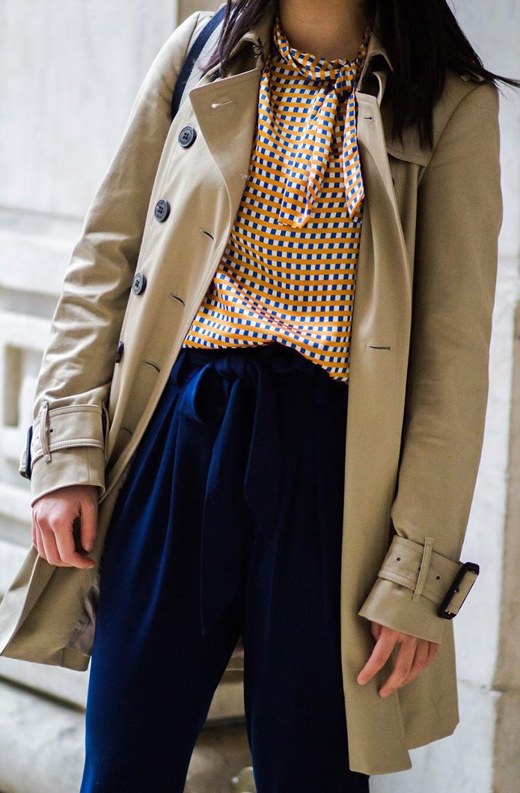 Geometric Print + Jersey Pants