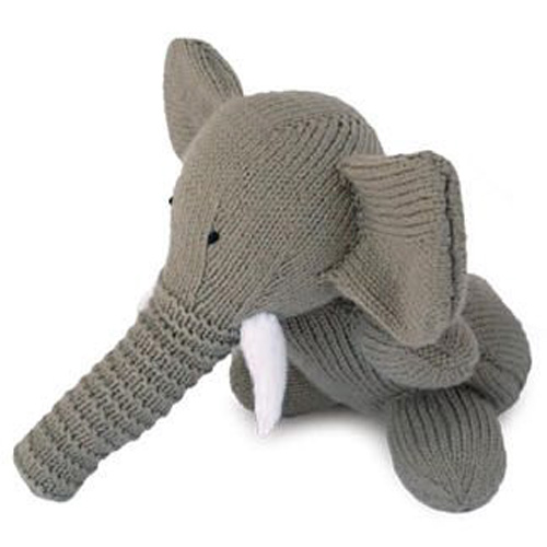 Knitted Toy Elephant - Free Pattern