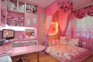 Gambar Kamar Hello Kitty Warna Pink 10