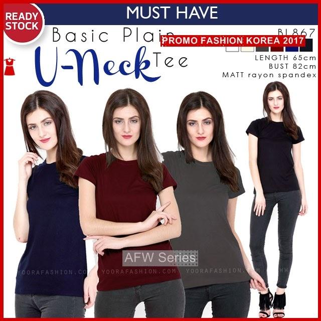 BAMFGW157 Basic Neck Tee Wanita PROMO BMG