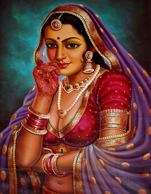 Vintage Paintings of Beautiful Woman's 31