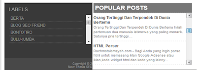 Cara memasang Scroll pada Label dan Popular Post di Blog