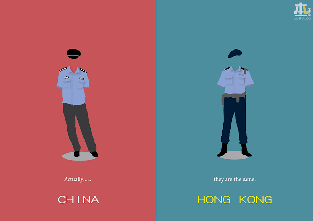 Hong Kong and China's Police are in common