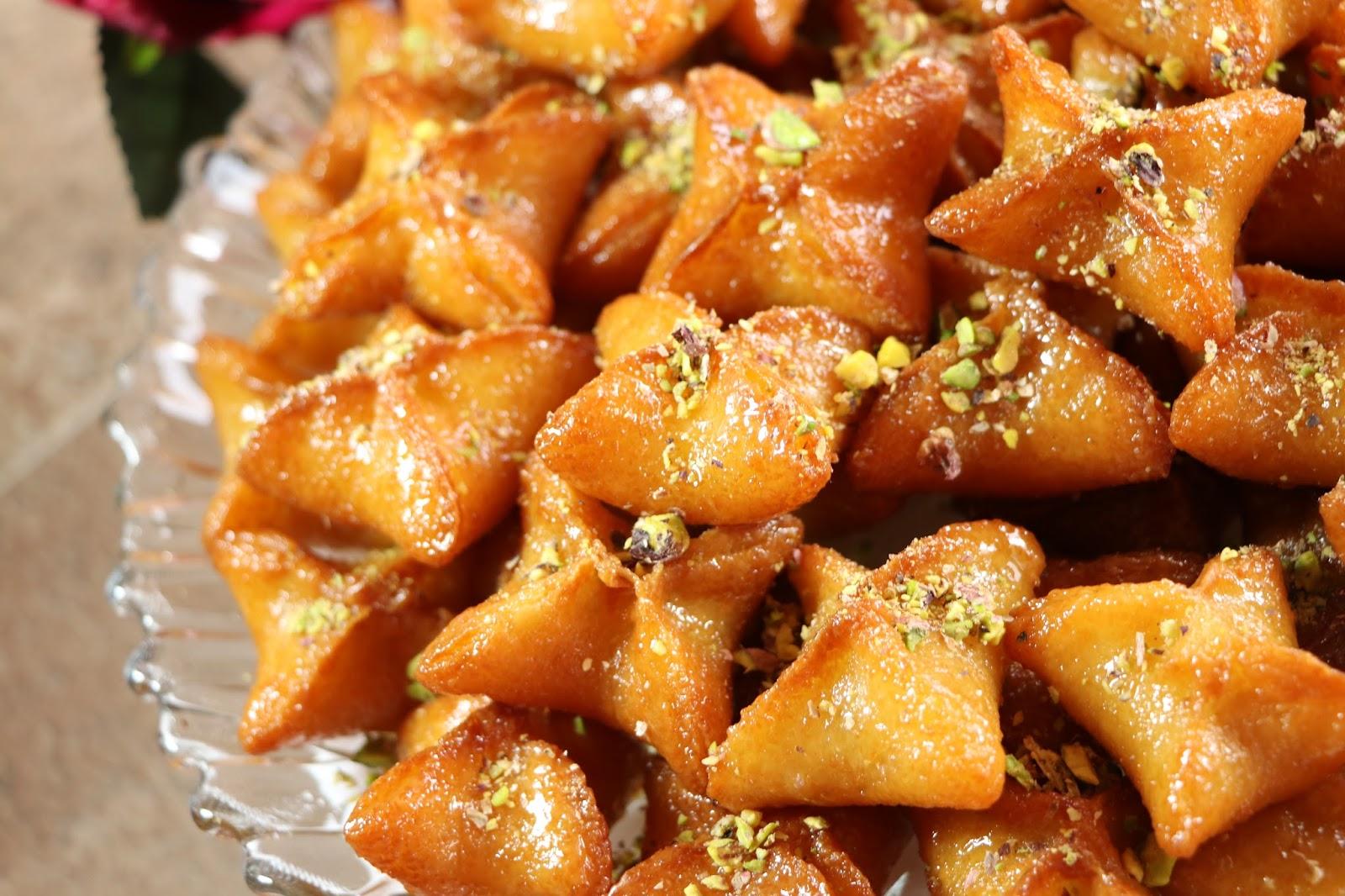 حلى النجمة بالسميد حلويات سهلة وسريعة بدون فرن مع رباح محمد