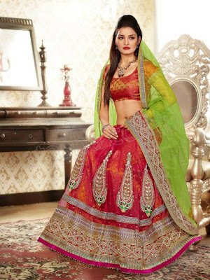 Awesome Photoshoot Of Beautiful Model In Indian Lehenga Choli Bridal Dress.