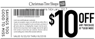 Christmas Tree Shops coupons february