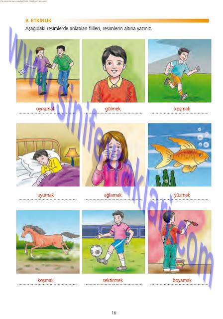7. Sınıf Türkçe Ezde Yayınları Çalışma Kitabı Cevapları Sayfa 16