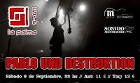 Concierto de Pablo Und Destruktion en Café la Palma
