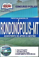 Apostila Concurso Prefeitura de Rondonópolis - MT 2016
