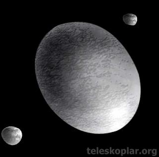 haumea cüce gezegeni ve teleskop gözlemi