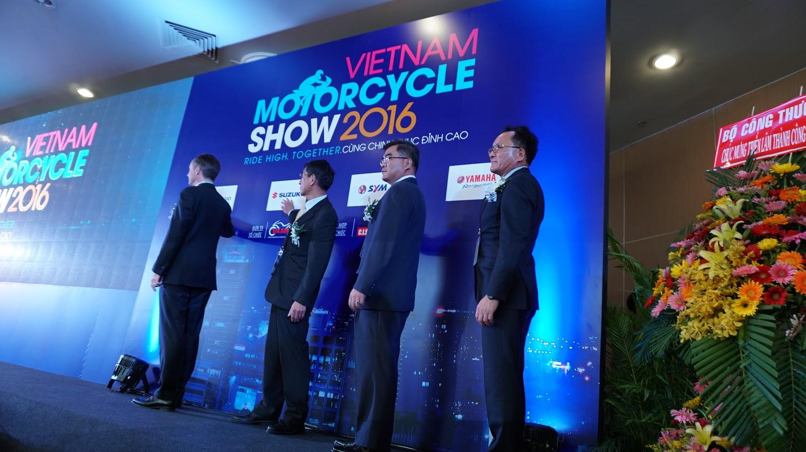 Đại diện các hãng xe chính thức khai mạc Vietnam Motorcycle Show 2016